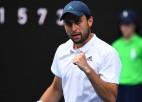 """Karacevs kļūst par pirmo tenisistu, kurš """"Grand Slam"""" debijā ticis līdz pusfinālam"""