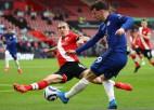 """""""Chelsea"""" Tuhela vadībā pirmo reizi nonāk iedzinējos un spēlē neizšķirti ar """"Southampton"""""""