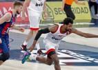 """""""Baskonia"""" turpina uzvaru sēriju, pārliecinoši pieveicot """"Olympiacos"""""""