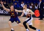 Šmita ''Barcelona'' cīņa par vadību sērijā; Strēlnieka CSKA lūkos iekļūt <i>Final 4</i>