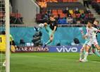 Video: Austrija 78. minūtē gūst uzvaras vārtus spēlē pret Ziemeļmaķedoniju