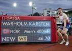 Varholms labo 29 gadus veco pasaules rekordu 400m/b skrējienā
