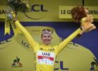 """Pogačars pārņem vadību """"Tour de France"""" kopvērtējumā"""