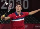 Akselsens Dānijai gūst pirmo zelta medaļu badmintonā kopš 1996. gada
