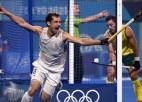 Beļģijas lauka hokejisti izgājienu sērijā pirmoreiz izcīna olimpisko zeltu
