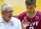 Latvijas volejbola izlase ar labākajiem spēkiem Rīgā pārliecinoši apspēlē Somiju