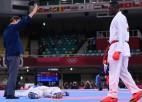 Pēc pretinieka diskvalifikācijas zelta medaļu karatē iegūst irānis Ganjzādehs