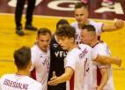 Latvijas volejbola izlase labā noskaņojumā izlido uz pārbaudēm Čehijā