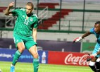 Slimani <i>pokers</i>, Āfrikas čempione Alžīrija grauj ar 8:0, panākums arī Marokai