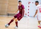 Latvijas telpu futbolisti ielaiž 11 vārtus un pārliecinoši zaudē titulētajiem spāņiem