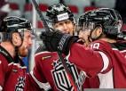 """Video: Rīgas """"Dinamo"""" izcīna otro uzvaru pēc kārtas un ielaužas KHL """"play-off"""" zonā"""