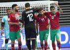 Marokas telpu futbolistiem punkts pret Portugāli, Brazīlija turpina nevainojami
