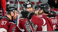 """Rīgas """"Dinamo"""" izcīna otro uzvaru pēc kārtas un ielaužas KHL """"play-off"""" zonā"""