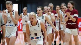 Latvijas U16 meiteņu izlasei saspringta uzvara pār Vāciju