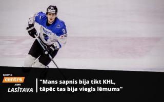Pirmais igaunis KHL - Roba par cerību, ka Igaunija reiz varēs cīnīties pret Latviju