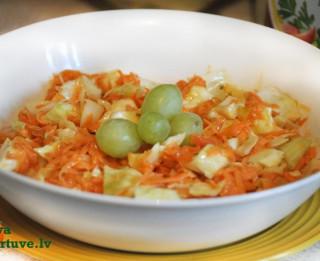 Saldskābie kāpostu un burkānu salāti