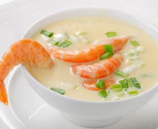 Kokosriekstu piena zupa ar jūras veltēm