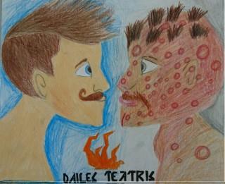 Cēsu pilsētas Mākslas skolas skolēni radījuši plakātus Dailes teātra izrādēm