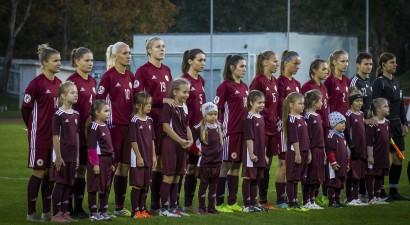 Latvijas sieviešu futbola izlasei pēc sakāvēm Baltijas kausā kritums FIFA rangā
