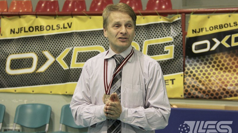 """""""Rubene/KSS"""" treneris Jānis Dainis Foto: Floorball.lv"""