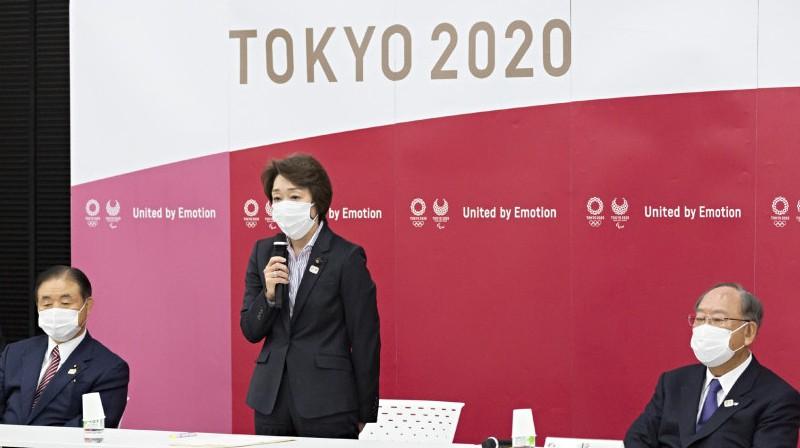 Seiko Hasimoto centrā. Foto:  Yuichi Yamazaki/Pool/AP/japantoday.com