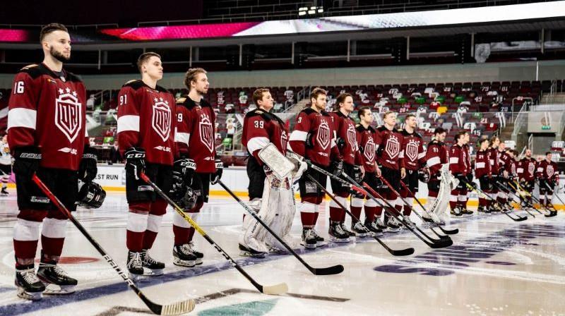 Rīgas ''Dinamo'' komanda. Foto: Raimonds Volonts/dinamoriga.lv