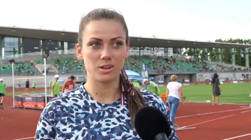Anete Kociņa. Foto: Sportacentrs.com TV