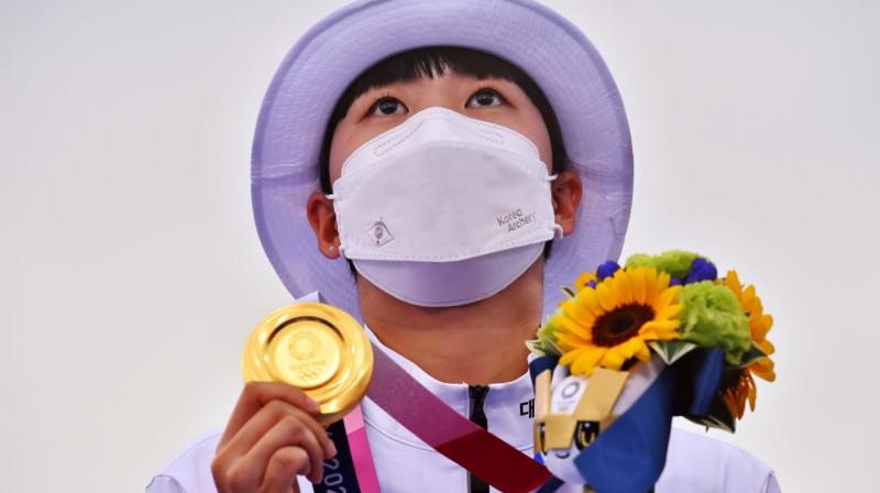Dienvidkorejas loka šāvēja Sana Ana. Foto: Reuters/Scanpix
