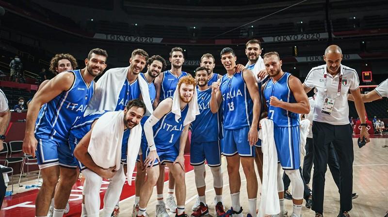 Itālijas basketbolisti spēlēs Tokijas ceturtdaļfinālā. Foto: FIBA
