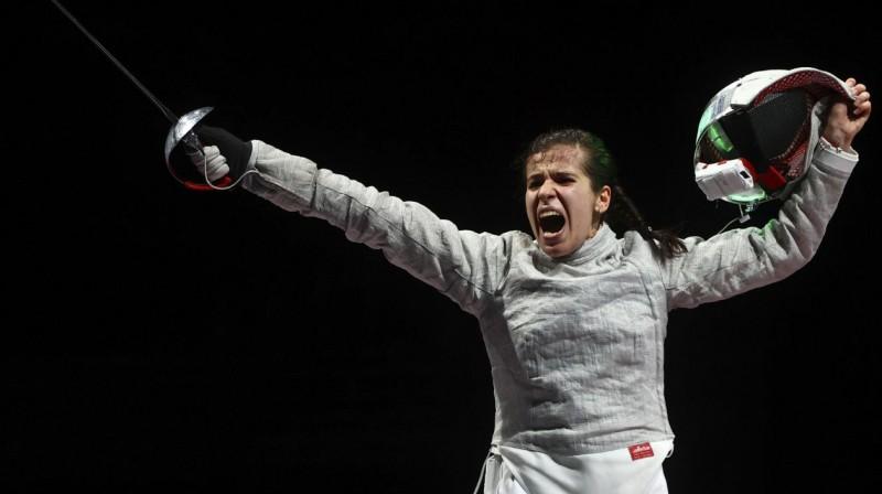 Krievijas Olimpiskās Komitejas paukotāja Olga Ņikitina. Foto: Maxim Shmetov/Reuters/Scanpix