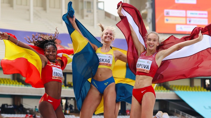 Darja Sopova pa labi. Foto: World Athletics