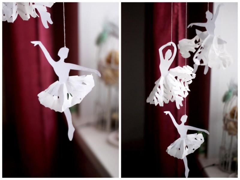 Radoša ideja: sniegpārsliņu balerīnas no papīra