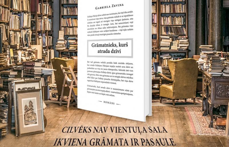 """Izdevniecība """"BaibaBooks"""" izdod Gabrielas Zevinas jaunāko romānu """"Grāmatnieks, kurš atrada dzīvi"""""""