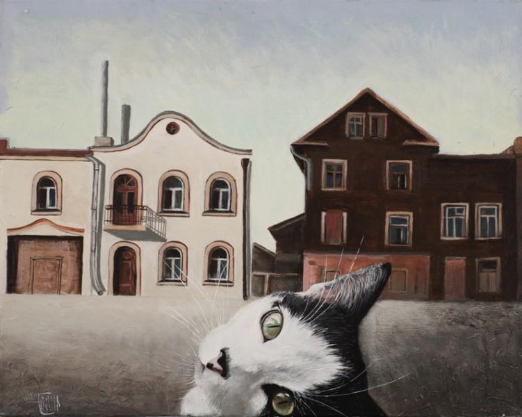 """Ingas Jurovas izstāde """"Forštates stāsti"""" atklāšana MuseumLV galerijā"""