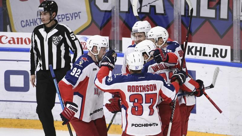"""Grandu cīņā CSKA sakauj SKA, """"Jokerit"""" bez Kalniņa vārtos uzvar Jaroslavļā"""