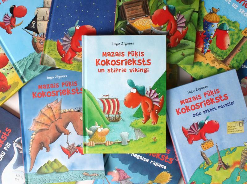 Nākusi klajā jau četrpadsmitā grāmata sērijā par mazo pūķi Kokosriekstu