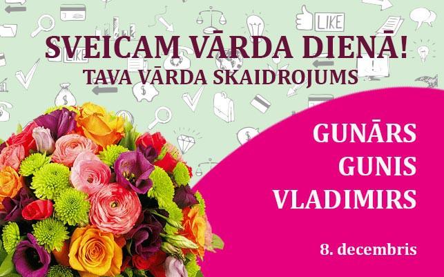 Tava vārda skaidrojums un ietekme uz tavu likteni. 8. decembris – Gunārs, Gunis, Vladimirs
