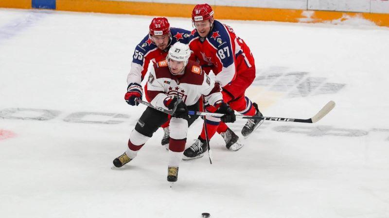 """Rīgas """"Dinamo"""" Maskavā viesosies pie KHL vicelīderes CSKA"""