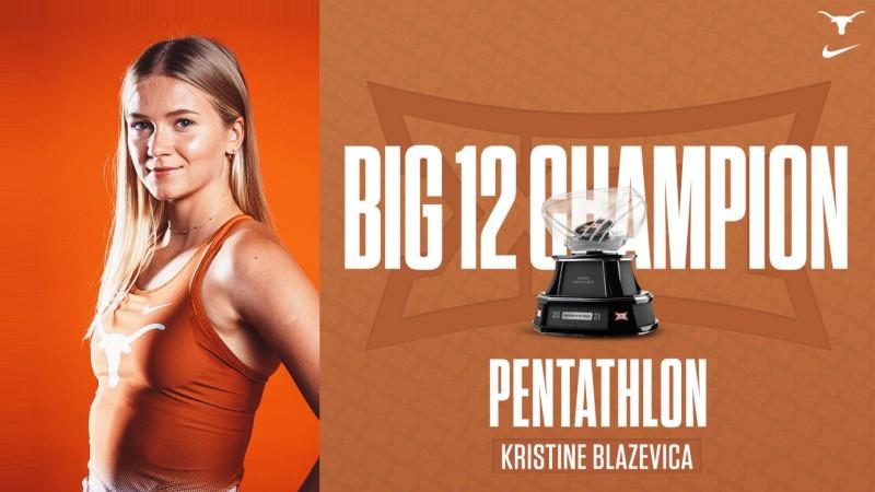 "Blaževiča - NCAA ""Big 12"" konferences čempione ar personisko rekordu"