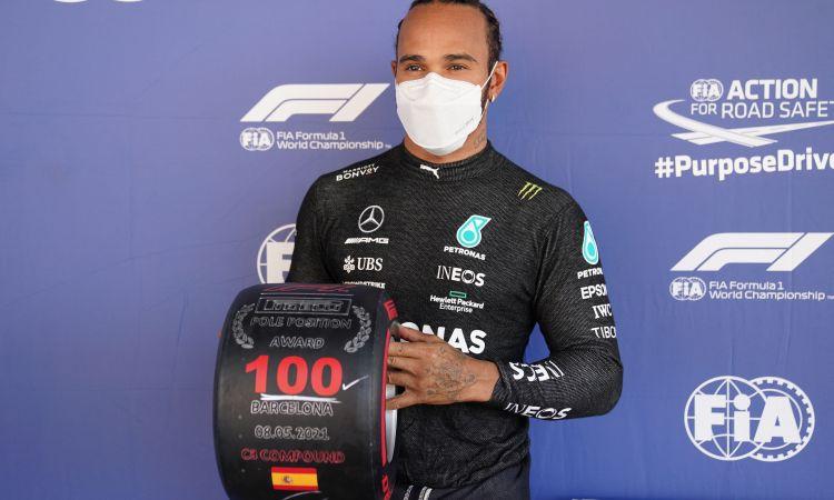 Hamiltons par 100. uzvaru kvalifikācijā: ''Nevaru tam noticēt. Esmu sajūsmā!''