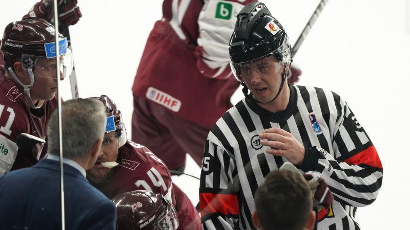Latvijas - Norvēģijas spēles tiesnešiem pasaules čempionāts beidzies