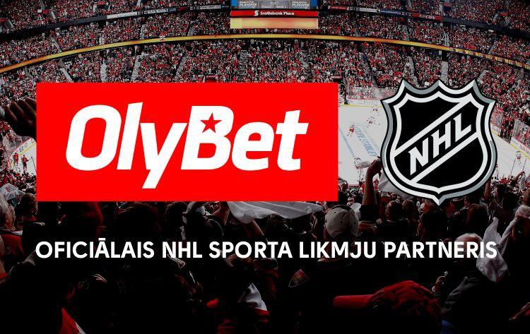 """""""OlyBet"""" kļūst par oficiālo NHL sporta likmju partneri Baltijas valstīs"""
