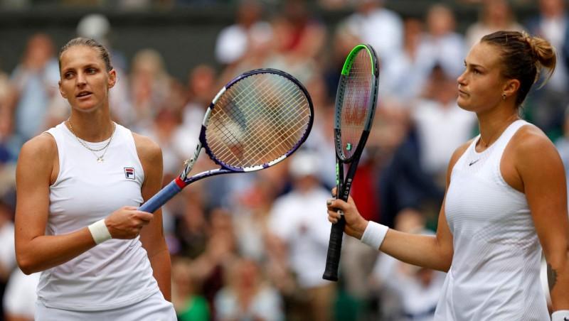 """Pliškova ar lielisku servēšanu uzvar Sabaļenku un otro reizi tiek """"Grand Slam"""" finālā"""