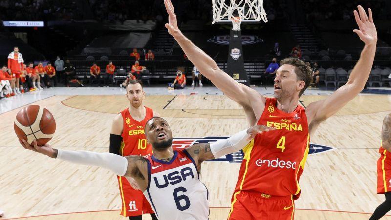 ASV basketbolisti pēdējā pārbaudē tiek galā ar spāņiem, Lilardam 19+6+4+4