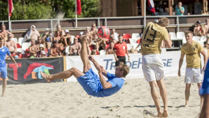 Latvijas-Igaunijas pludmales futbola līgas posmā piedalīsies arī Norvēģijas un Dānijas komanda