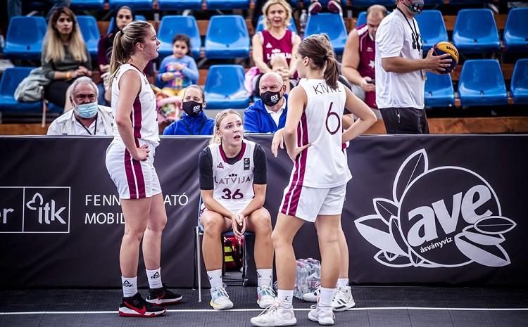 Latvijas U18 3x3 izlases basketbolistes uzvar un iekļūst ceturtdaļfinālā