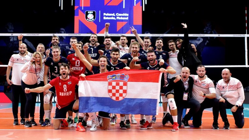 Horvātu volejbolisti vēlreiz uzvar, būtiski uzlabojot Latvijas cerību uz astotdaļfinālu