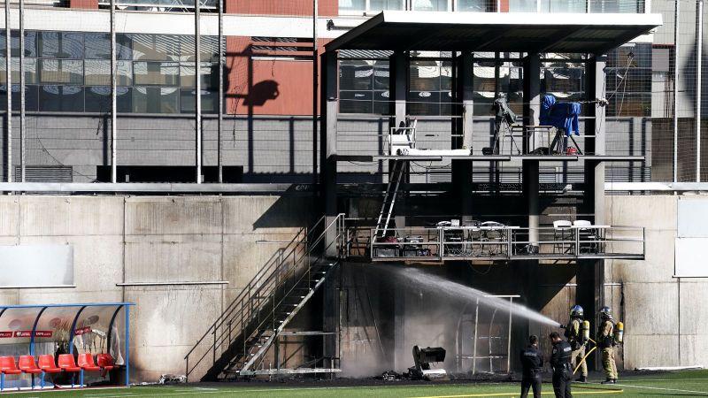 Pirms spēles pret Angliju ugunsgrēkā cietis Andoras futbola stadions
